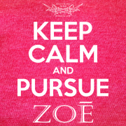 Keep Calm Pursue Zoe – Heather Red