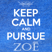 Keep Calm Pursue Zoe – Heather Royal Blue